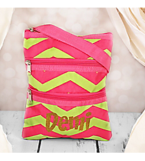 Fuchsia and Lime Green Chevron Hipster #003-165-F/G
