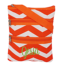 Orange and White Chevron Hipster #003-165-OR/W