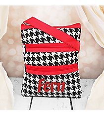 Houndstooth Hipster with Red Trim #003-606-R