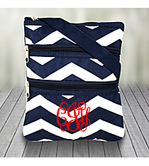 Navy and White Chevron Hipster #003-165-N/W