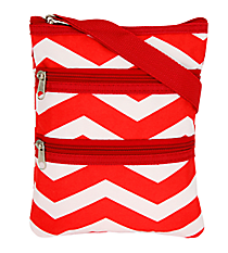 Red and White Chevron Hipster #003-165-R/W