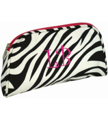 "Zebra with Fuchsia Trim 9"" Pouch #007-163-F"