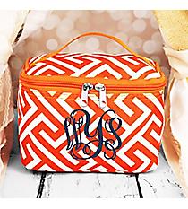 Orange and White Greek Key Maze Case #008-185-OR/W