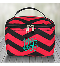Black and Fuchsia Chevron Case #008-165-B/F