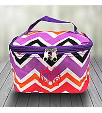 Purple and Fuchsia Chevron Case with Purple Trim #008-172