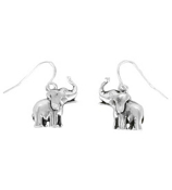Silver Elephant Earrings #0210M-AS