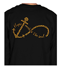 """Hope Anchors the Soul"" Long Sleeve Relaxed T-Shirt INS04 *Choose Your Colors"