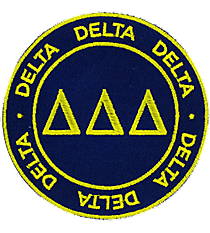 Delta Delta Delta Mix and Match Sorority Patch #IP-DD-030169