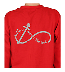 """Hope Anchors the Soul"" Heavy-weight Crew Sweatshirt INS04 *Choose Your Colors"
