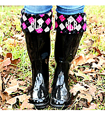 Charles River New Englander Boot Socks, Multi-Color Argyle #1006-100 *Choose Your Size