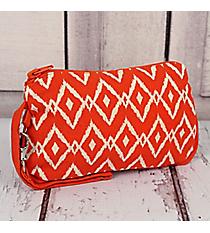 Orange Ikat Cotton Wristlet #10206-ORANGE
