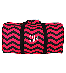 "Fuchsia and Black Chevron 22"" Duffle Bag #1022-165-B/F"