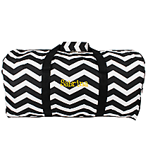 "Black and White Chevron 22"" Duffle Bag #1022-165-B/W"