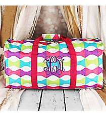 "Pastel Bow Ties Duffle Bag 22"" #1022-189"