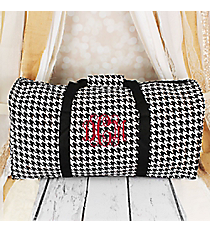 "Houndstooth with Black Trim 22"" Duffle Bag #1022-606-B/W"