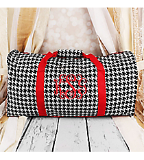 "Houndstooth with Red Trim 22"" Duffle Bag #1022-606-R"
