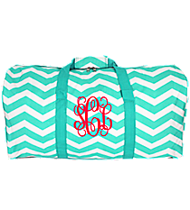 "Light Blue and White Chevron 22"" Duffle Bag #1022-165-LT/W"