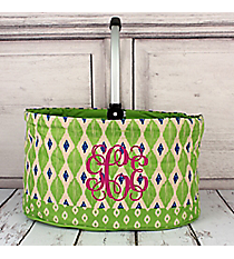 Lime Ikat Collapsible Market Basket #10255-LIME