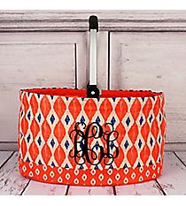 Orange Ikat Collapsible Market Basket #10255-ORANGE