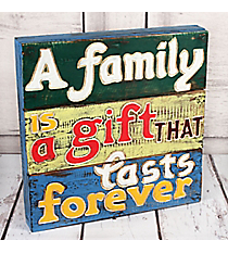 A Family is a Gift That Lasts Forever Wood Wall Decor #10692-FAMILY-GIFT