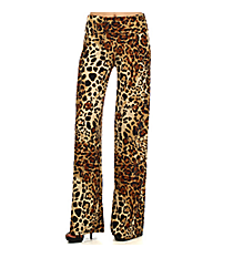 Wild Cat Palazzo Pants #1098DP-44-BROWN *Choose Your Size