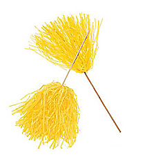 24 Yellow Spirit Pom Poms #12/3836