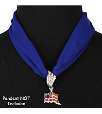 "17"" Royal Blue Scarf Necklace #12088"