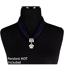 "17"" Navy Blue Scarf Necklace #12089"