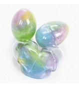 12 Iridescent Rainbow Glitter Putty Eggs #12/2002
