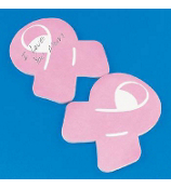 One Dozen Pink Ribbon Sticky Notepads #12/2584