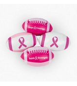 One Dozen Pink Ribbon Footballs #12/4044
