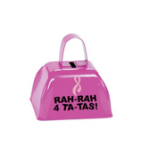 One Dozen Pink Ribbon Cowbells #12/4607