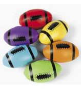 1 Colorful Foam Filled Football #12/558-SHIPS ASSORTED