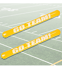 "12 Inflatable Yellow ""Go Team"" Noisemaker Sticks #13585765"