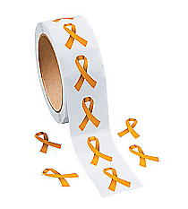 1 Roll Gold Ribbon Stickers #13598253