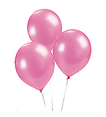 2 Dozen Hot Pink Metallic Balloons #13599575