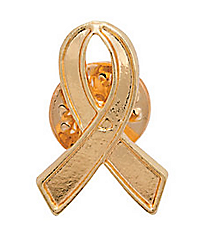 12 Gold Ribbon Pins #13600377