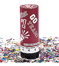 12 Burgundy School Spirit Party Poppers #13603816