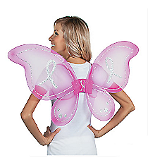 1 Hot Pink Breast Cancer Awareness Butterfly Wings #13605762