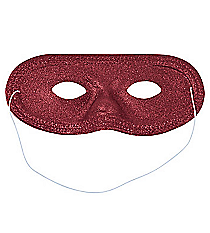 12 Burgundy Glitter Masks #13605794