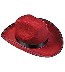 1 Burgundy Cowboy Hat #13605902