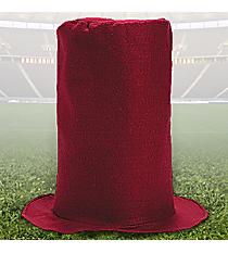 6 Burgundy Felt Stovepipe Hats #13605988