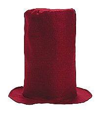 6 Burgundy Felt Stovepipe Hats #13605988