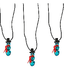 12 Jingle Bell Snowman Necklaces #13615575