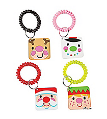 12 Cheery Christmas Coil Keychains #13616842
