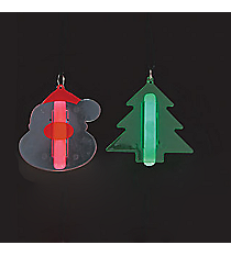 12 Santa and Christmas Tree Glow Stick Necklaces #13617323