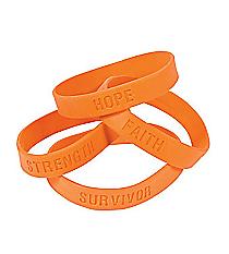 24 Orange Ribbon Saying Bracelets #13617373