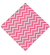 16 Pink Chevron Luncheon Napkins #13625356