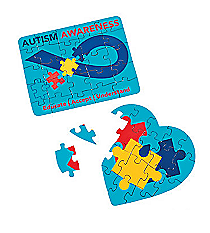 12 Autism Awareness Mini Puzzles #13626372