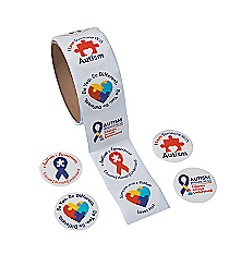 1 Roll Autism Awareness Stickers #13626686